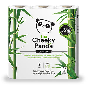 The Cheeky Panda Bamboe Toiletpapier  9 rollen