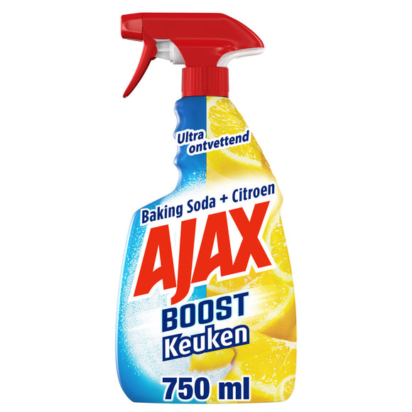Ajax Keukenspray Soda & Citroen 750 ml