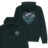 Whales & Mountains Unisex Hoodie - Back Print