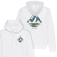 Wolf & Mountains Unisex Hoodie - Back Print