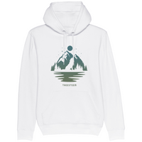 Wolf & Mountains Unisex Hoodie - Front Print