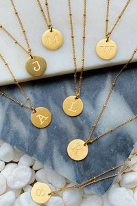 Singular Charm Initial Necklace Prepack