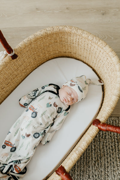 Jo Knotted Gown- Newborn