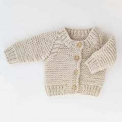 Cardigan Sweater- Natural