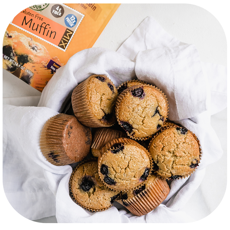 SunFlour Muffin Mix | Low Carb, High Protein | Full of Fiber | Gluten & Nut Free | Low Glycemic
