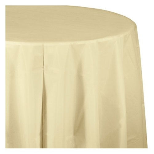 Creative Converting Paper Banquet Table Cover, Ivory