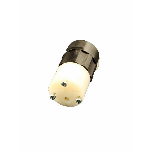 Leviton 5669-C 15 Amp, 250 Volt, Connector, Straight Blade, Grounding, Industrial Grade, Black-White