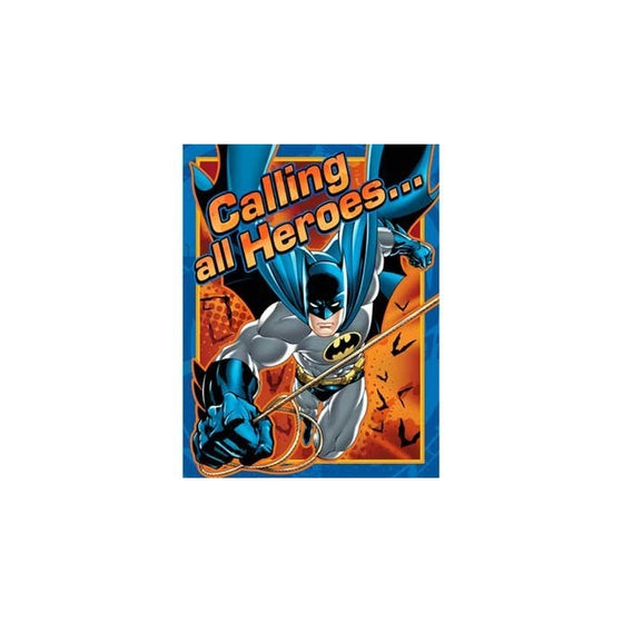 Batman Heroes and Villains Invitations (8) Party Accessory