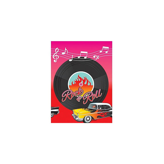 "Amscan 50 s Theme Party Rock & Roll Vinyl Record Plastic Table Cover, 1 Piece, Made from Plastic, Birthday/Celebration, 4"" x 102"" by"