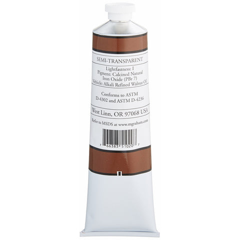 M. Graham Artist Oil Paint Burnt Sienna 5oz Tube