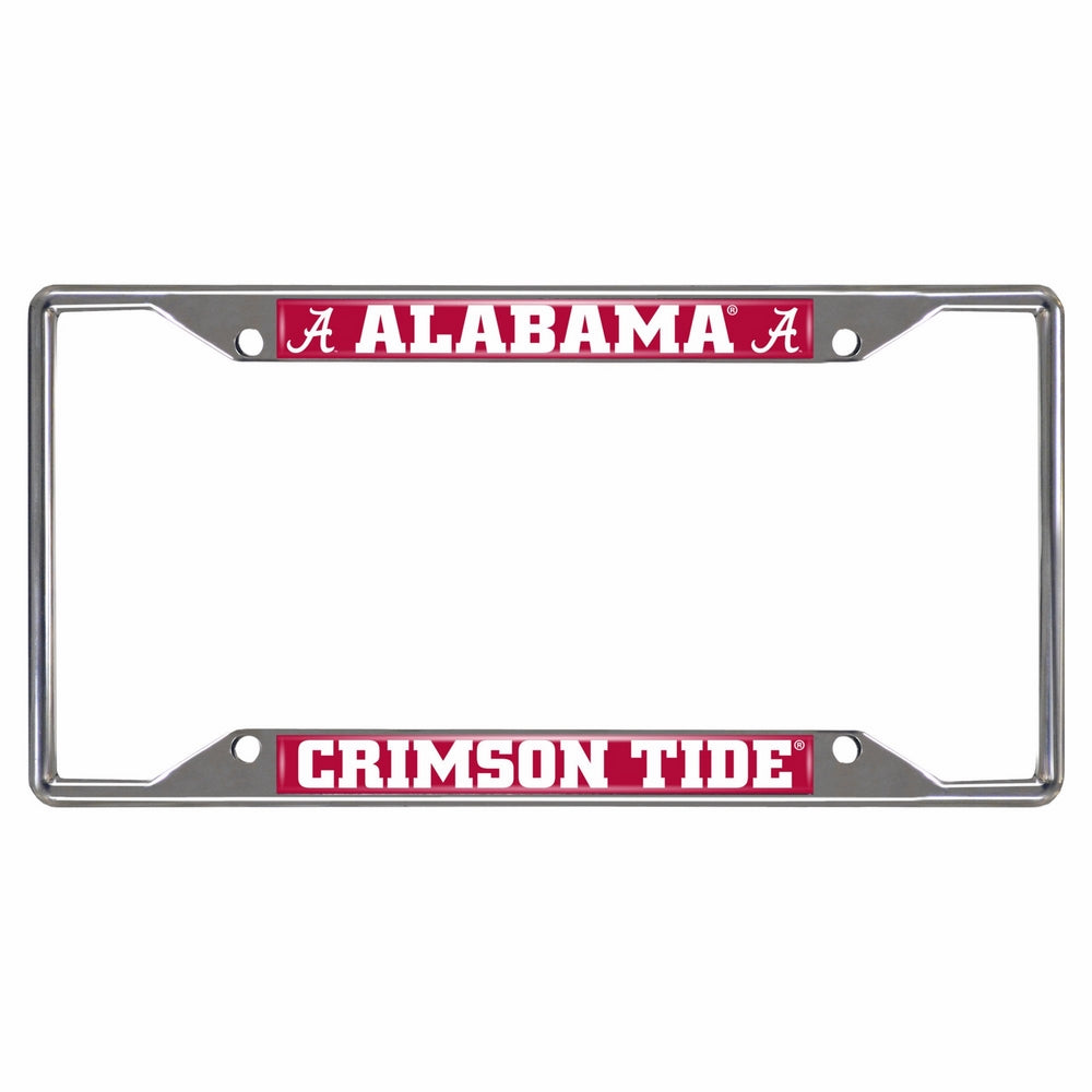 FANMATS NCAA University of Alabama Crimson Tide Chrome License Plate Frame
