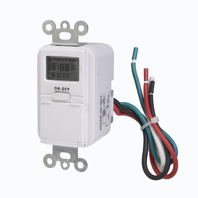 Westek TMDW10 In-Wall Programable Digital Timer, 120 V.25 HP