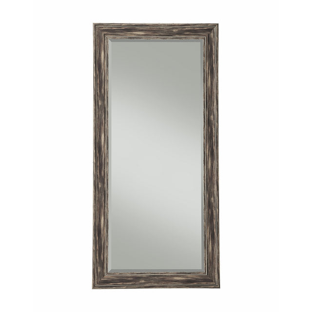 Sandberg Furniture Farmhouse, Full Length Leaner Mirror, Antique Black