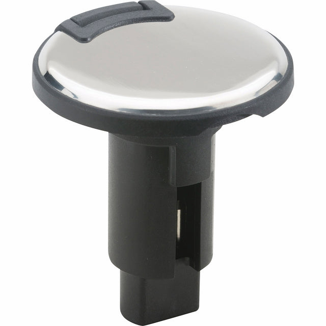 attwood 910R2PSB-7 Lightarmor 910R Series Round 2-Pin Light Base-Overmold 306 SS, Black Cover
