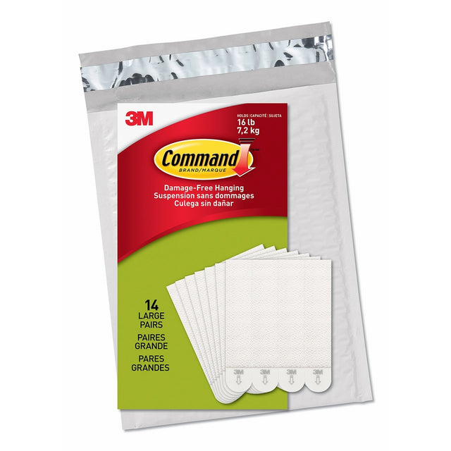 Command Large Picture Hanging Strips, White, 14 Pairs, Four Pairs Hold 16 lbs (PH206-14NA) – Easy To Open Packaging