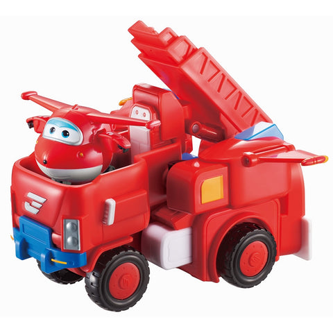 "Super Wings - Robo Rig | Toy Vehicle Set |, Includes Transform-a-Bot Jett Figure | 2"" Scale"