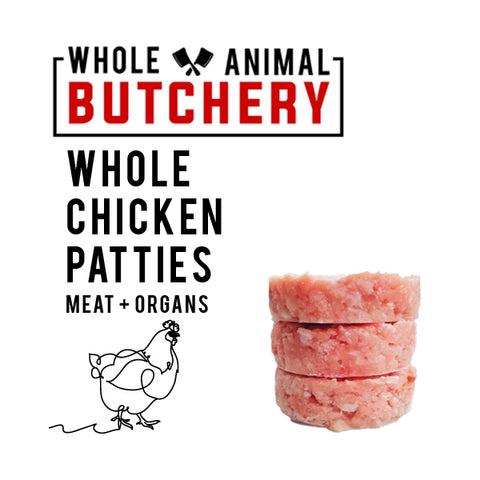 Whole Animal Butchery Frozen Raw Chicken Patties
