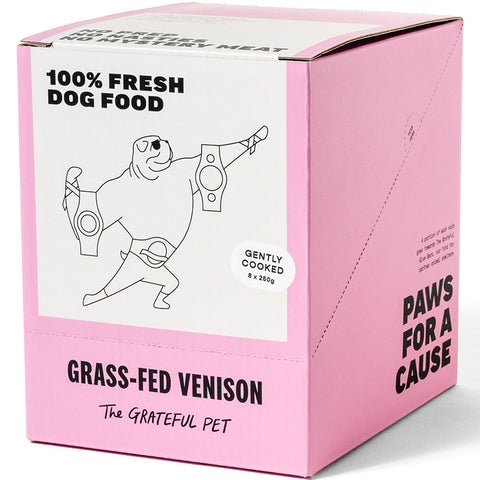 The Grateful Pet Gently Cooked Grass-fed Venison