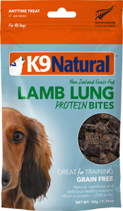 K9 Natural Air Dried Protein Bites - Lamb Lung