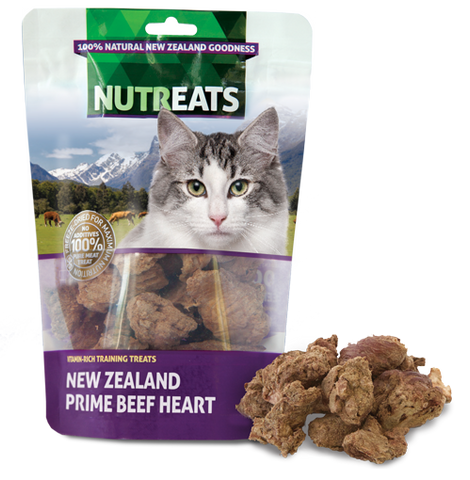 Nutreats Freeze Dried Beef Hearts for Cats