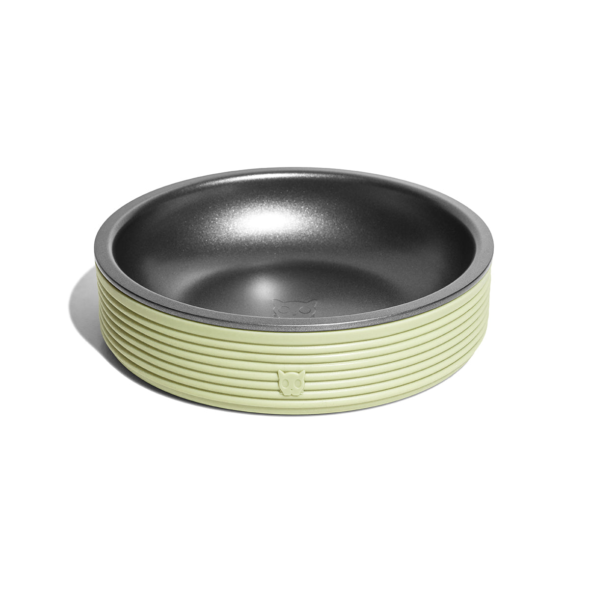 Zee Cat Duo Bowl for Cats - Olive