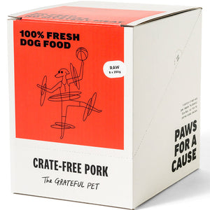 The Grateful Pet Frozen Raw Crate-free Pork