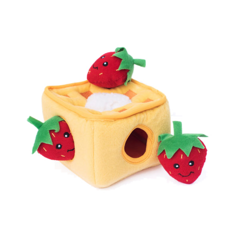 Zippypaws Strawberry Waffles Burrow Toy
