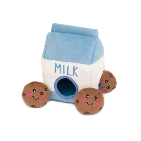 Zippypaws Milk & Cookie Burrow Toy