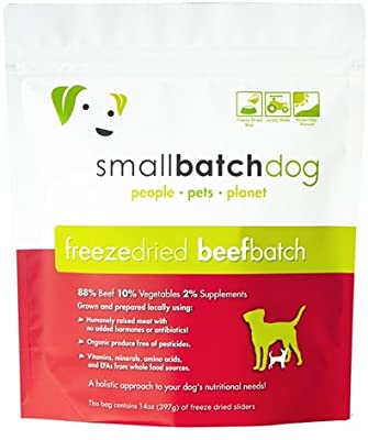 Smallbatch Freeze Dried Beef Sliders for Dogs