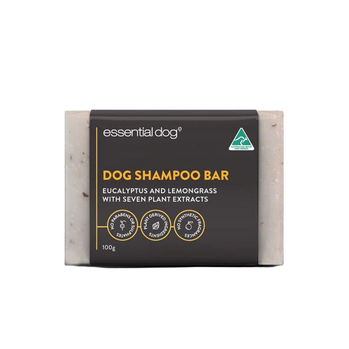 Essential Dog Shampoo Bar (Neem Seed, Lemongrass And Eucalyptus)