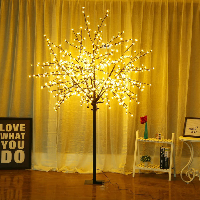 Bolylight LED Cherry Blossom Tree, 8ft height with 500 LED bulbs