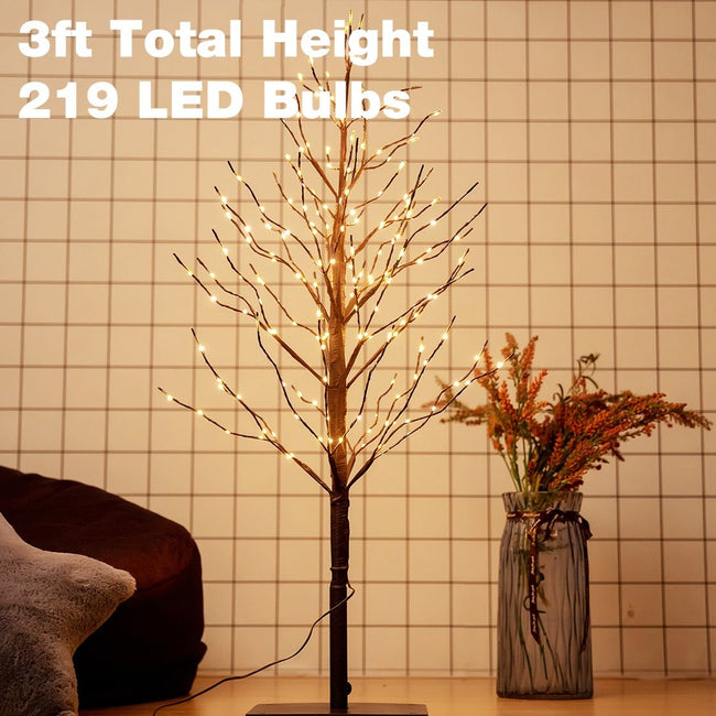 Bolylight LED Tree with Blink Light, 3ft height, 219 LED bulbs