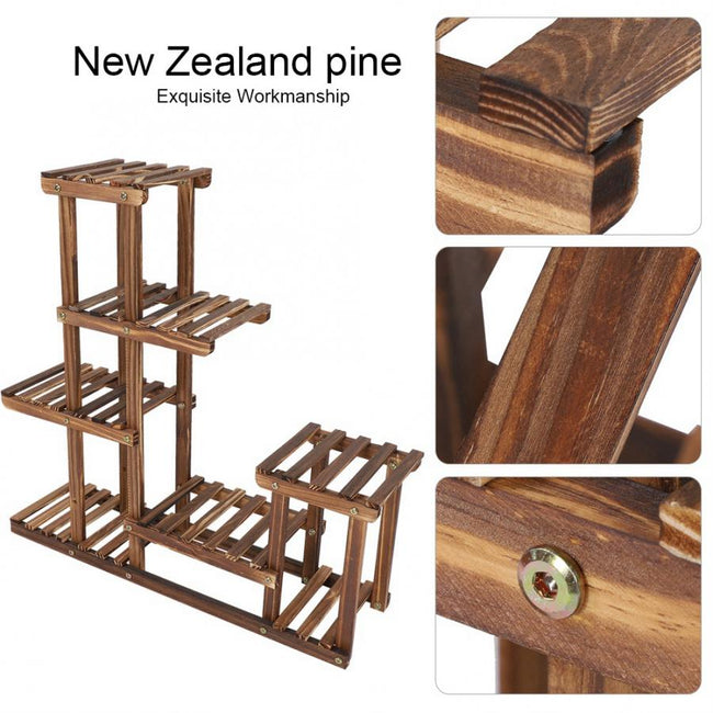 Multi-tiers Flower Plant Holder Stand Rack Wooden Plant Stand Balcony Garden Flower Plant stand Bonsai Display Shelf