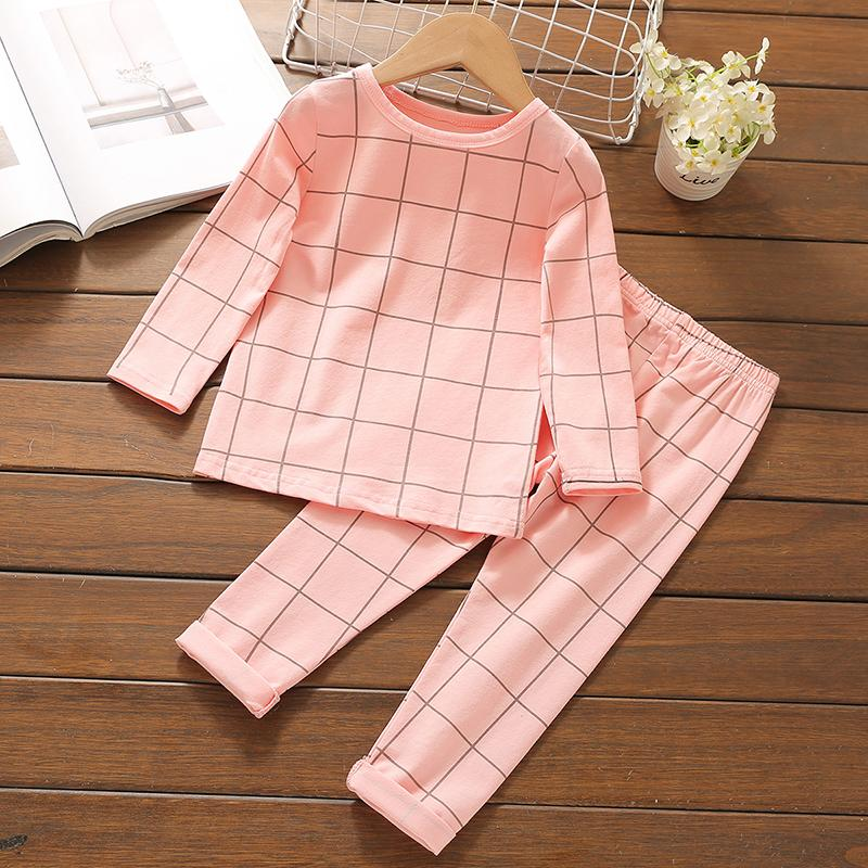 2-piece Plaid Pajamas Sets for Toddler Boy Wholesale children's clothing