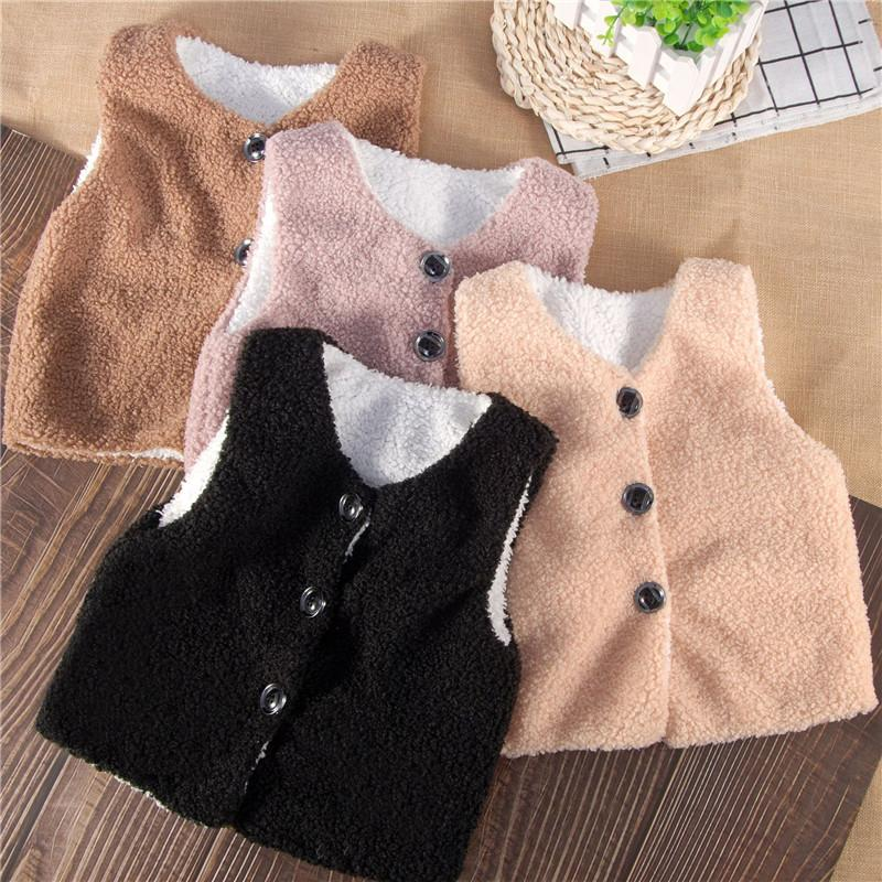 Plush Thick Gilet for Toddler Boy Wholesale children's clothing