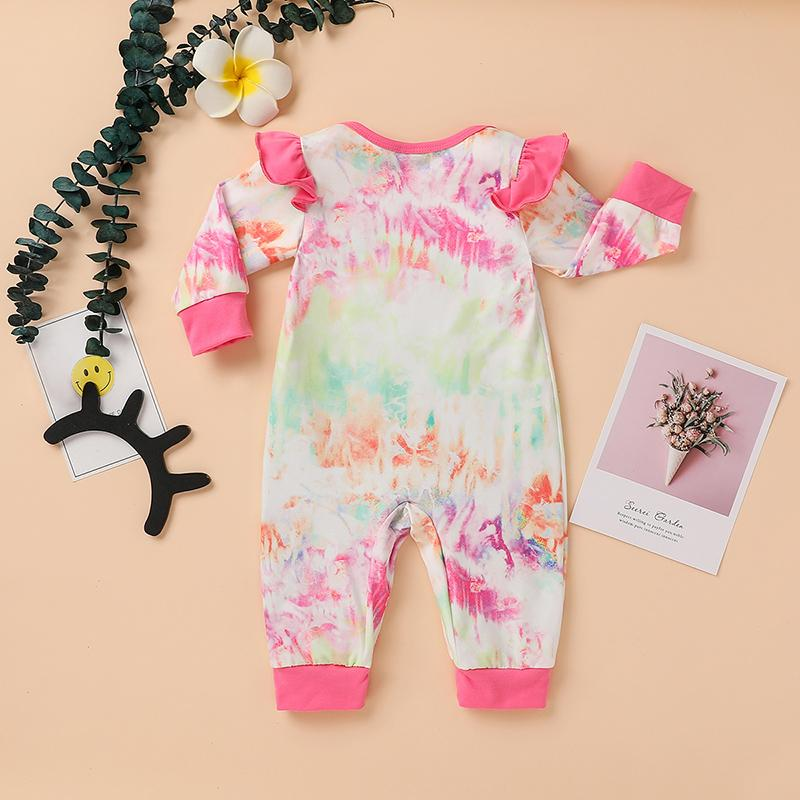Tie Dye Jumpsuit for Baby Girl Wholesale children's clothing