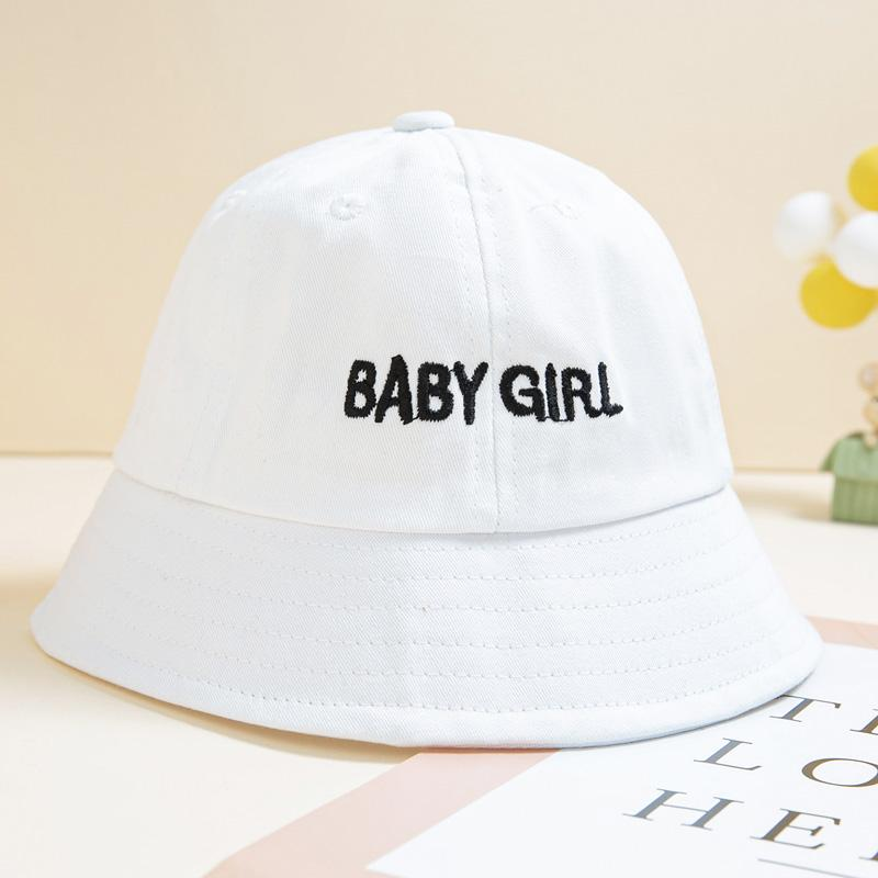 Solid letter embroidery Bucket hat