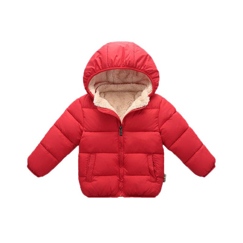 Solid Thick Puffer Jacket for Toddler Boy Wholesale children's clothing