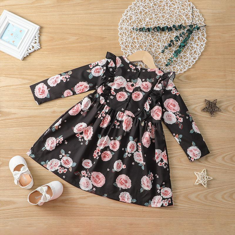 Floral Dress for Toddler Girl Wholesale Children's Clothing