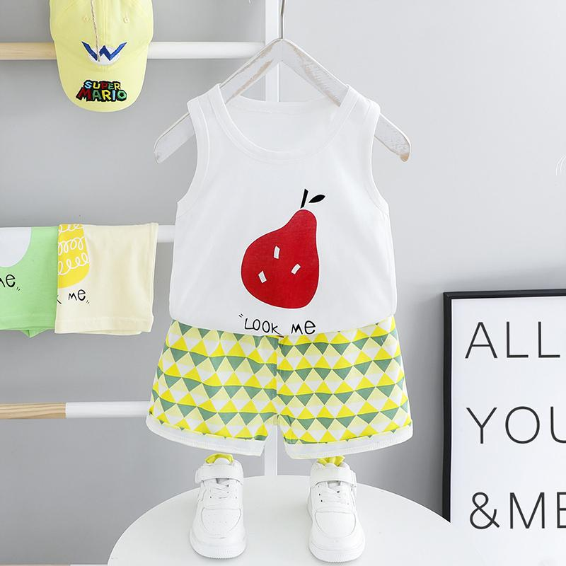 2-piece Fruit Pattern T-shirt & Shorts for Toddler Girl£¨No Shoes???Wholesale children's clothing - PrettyKid