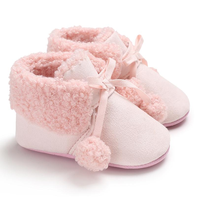 Velcro Fleece-lined Baby Shoes for Baby Girl