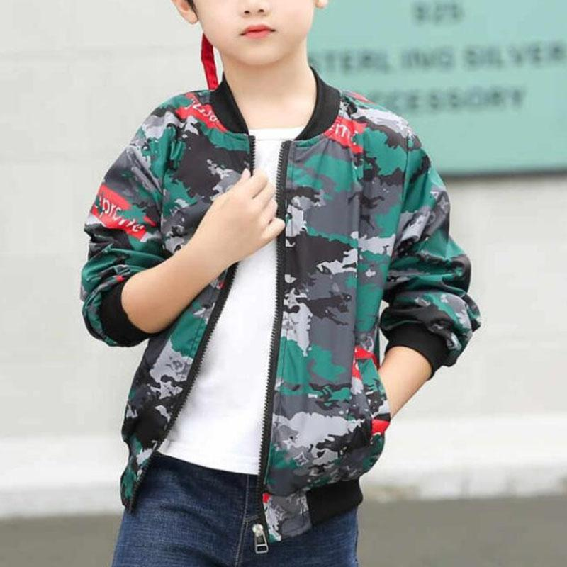 Camouflage Pattern Jacket for Boy Wholesale children's clothing