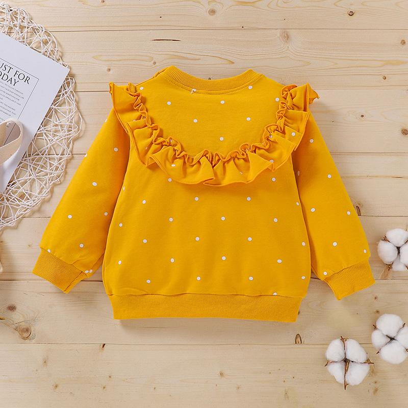 Ruffle Long Sleeve T-shirt for Baby Girl Wholesale children's clothing