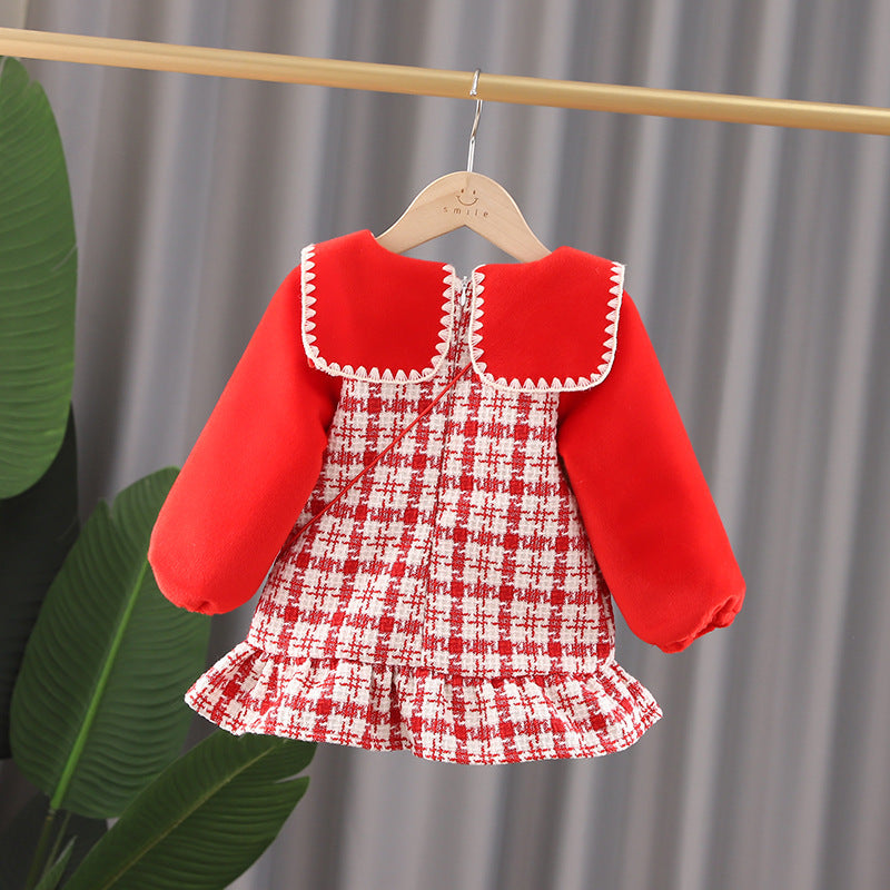 Children Girls Dress Winter Clothes Western Fashion  Princess Dress Fashion in bulk