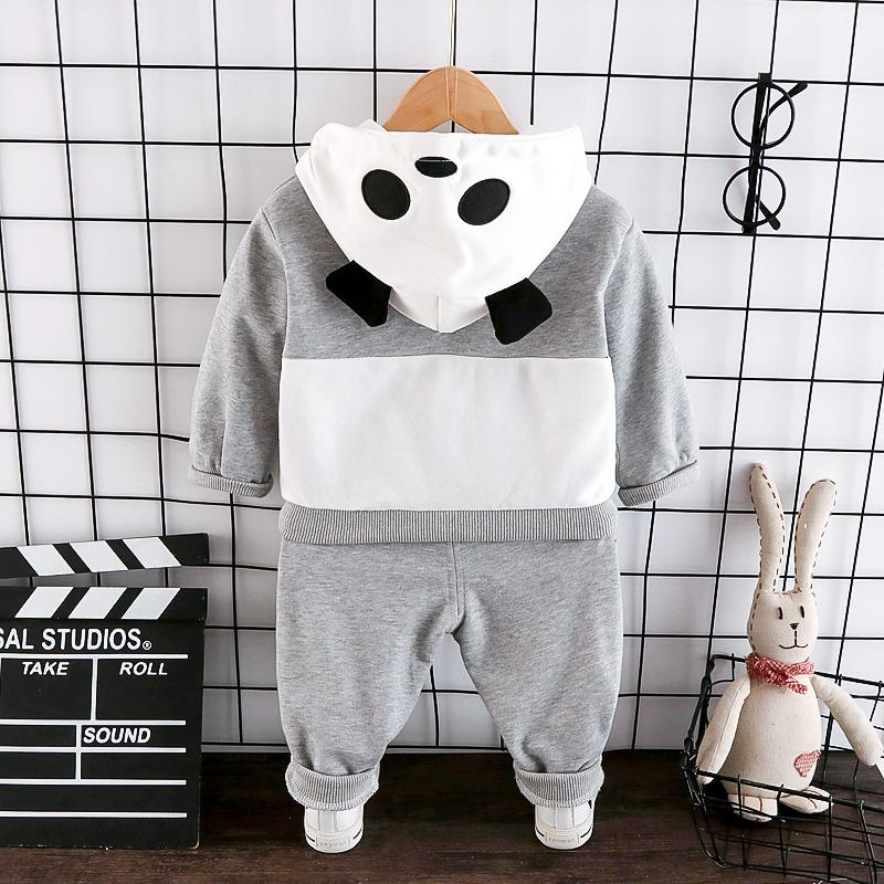 2-piece Panda Pattern Hoodie & Pants for Toddler Boy Wholesale children's clothing