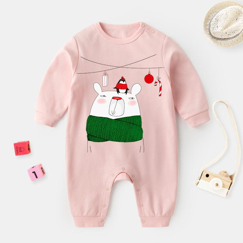 Polar Bear Pattern Jumpsuit for Baby Wholesale children's clothing