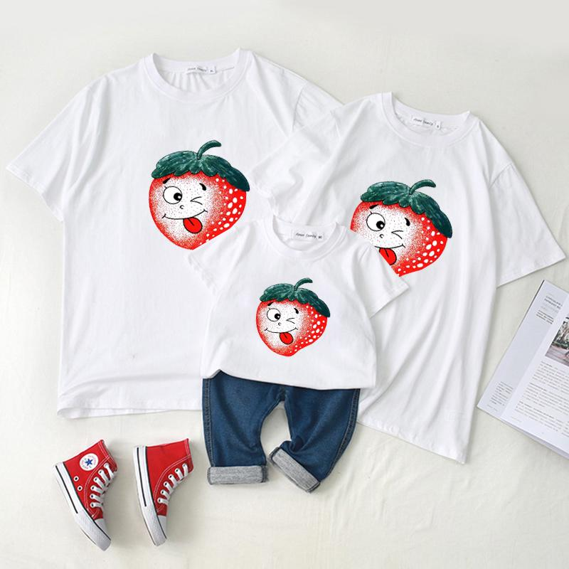 Family wear baby crawl wear short - sleeved t - shirt summer wearf Wholesale children's clothing - PrettyKid