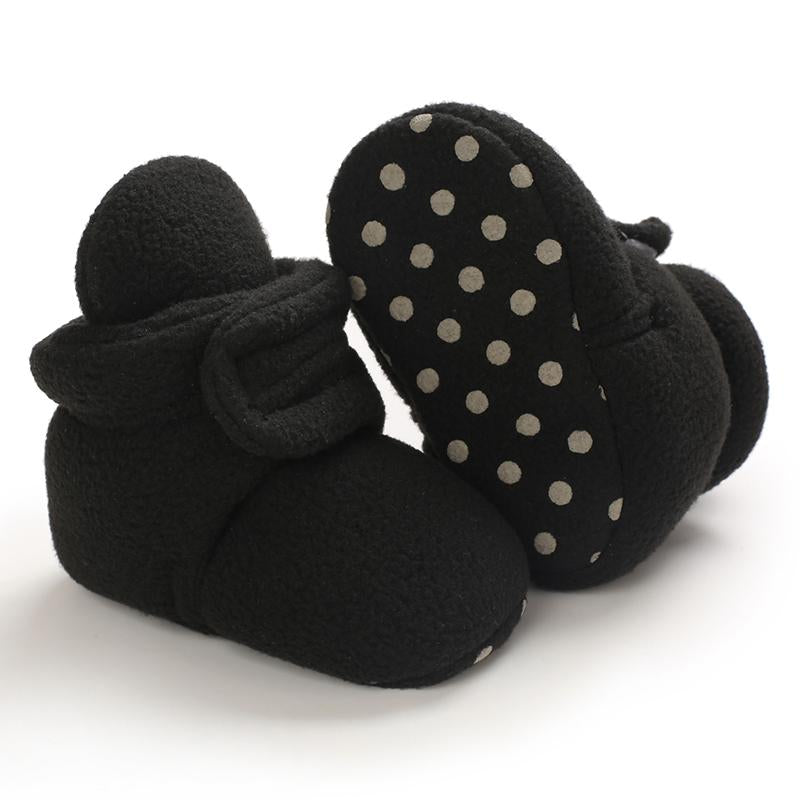 Velcro Design Cotton Fabric Shoes for Baby