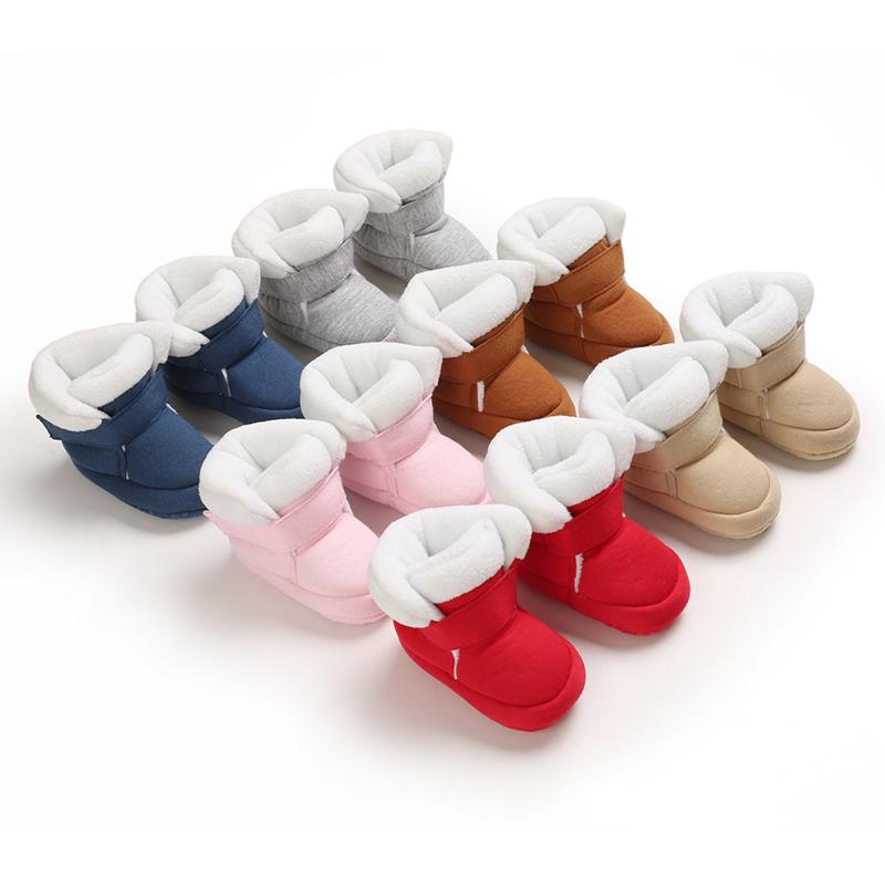 Boys King Crown Velcro Design Soft Cotton Fabric Baby Shoes