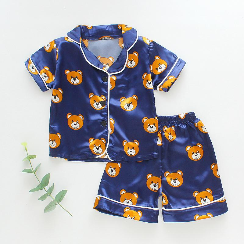 2-piece Animal Pattern Pajamas for Toddler Boy - PrettyKid